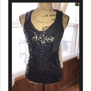 New York & co black top with sequences size small